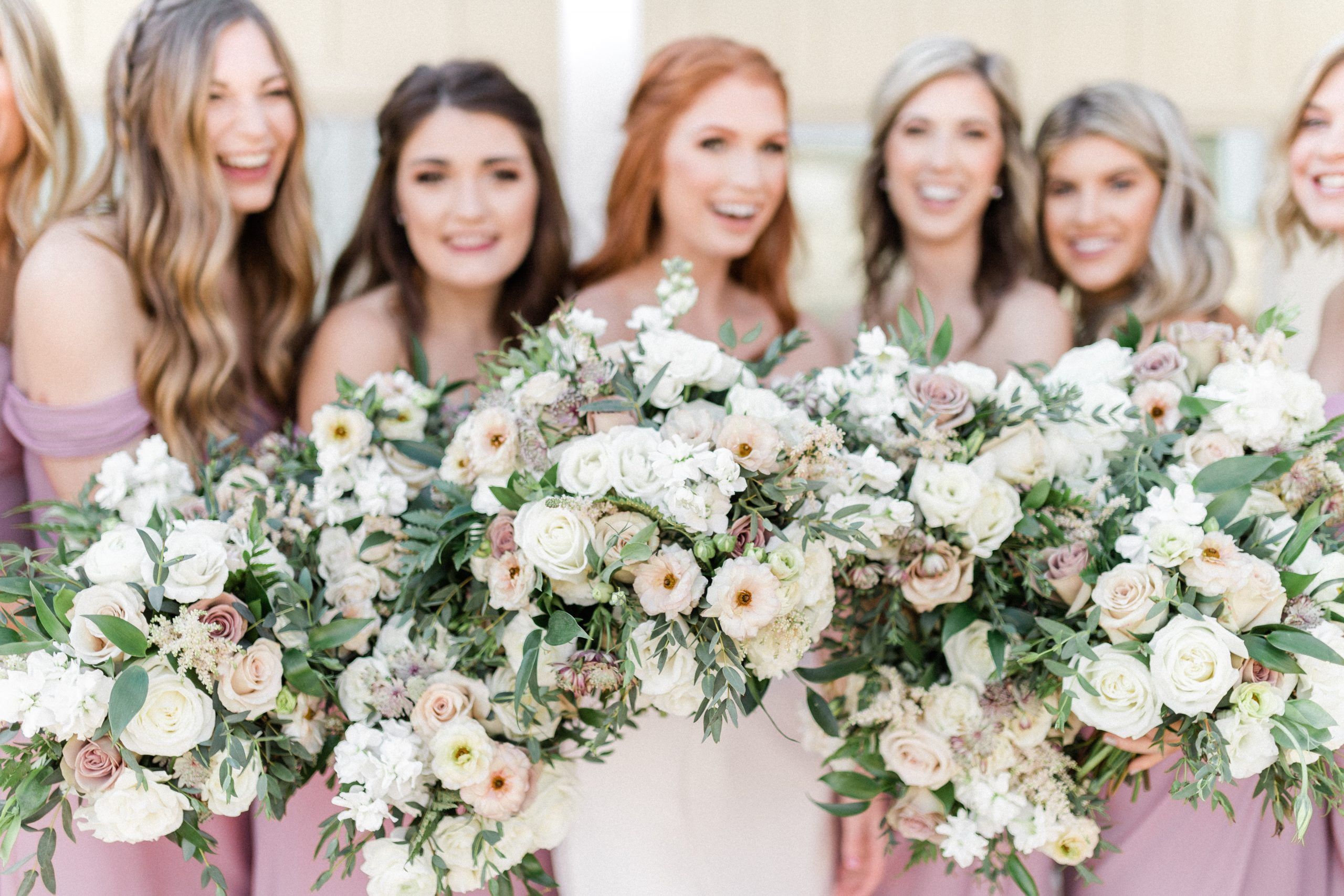 oversized modern bridal bouquet by Coneflower Designs